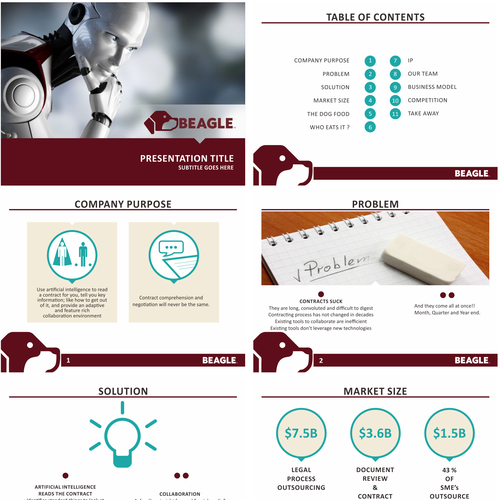 PowerPoint template for Beagle