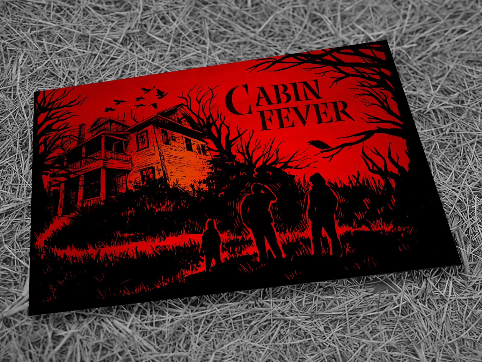 Design an innovative and engaging envelope for a horror escape room business