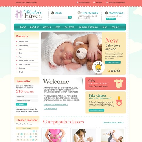 Help A Mother's Haven with a new website design