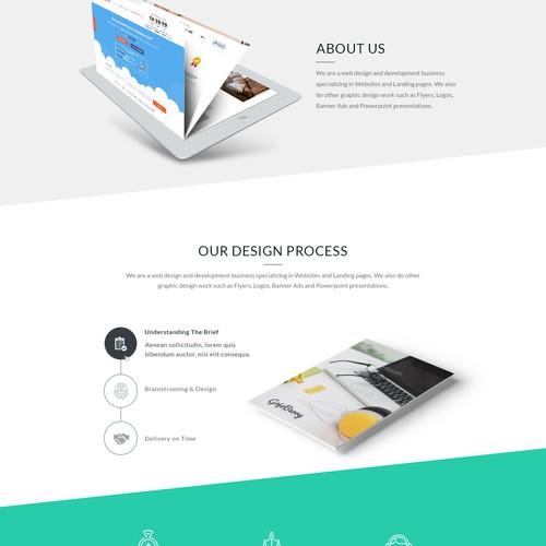 Concept for web design agency