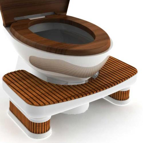 Bamboo Toilet Stool