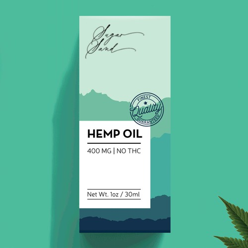 Packaging design for hemp oil