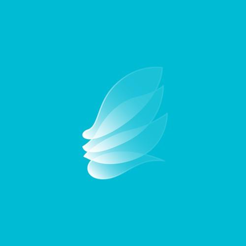 Dermatology, skin care company logo