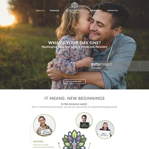 Clean Rehab Clinic Website design