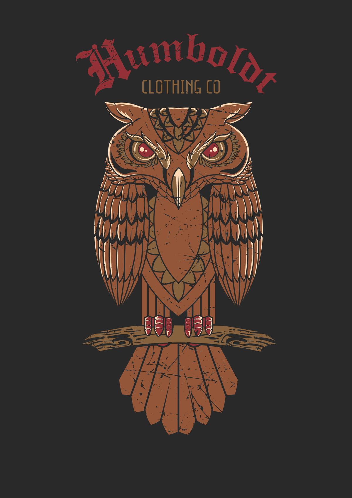 Humboldt Clothing Co Owl design