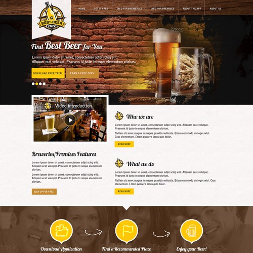 *Guaranteed* Best Beer Here landing page (stationery work to follow)