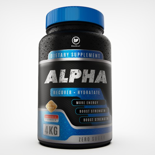 Dietary supplement bold label