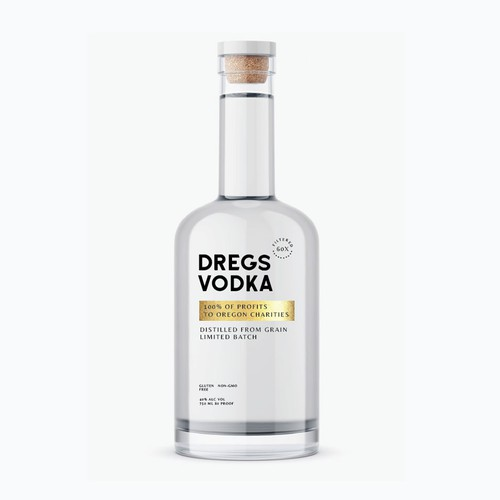 Dregs Vodka Label