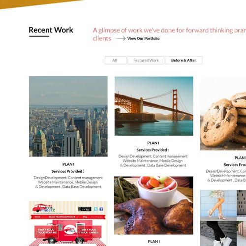 Marketing Agency homepage