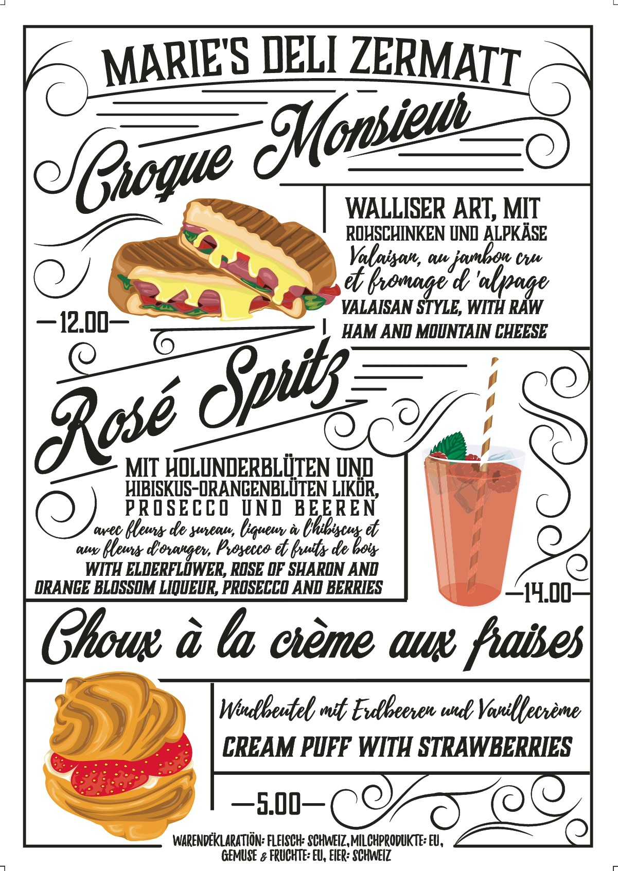 Menu for Food stand 31.7.18
