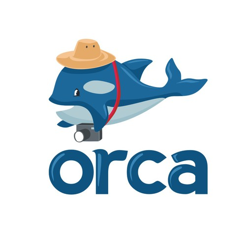 mascot logo for orca
