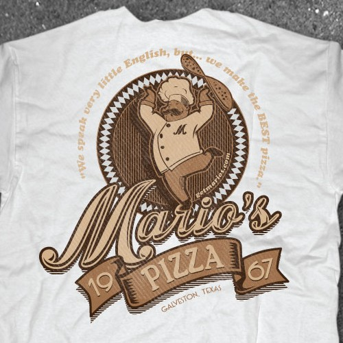 Vintage Shirt design for Pizza Shop