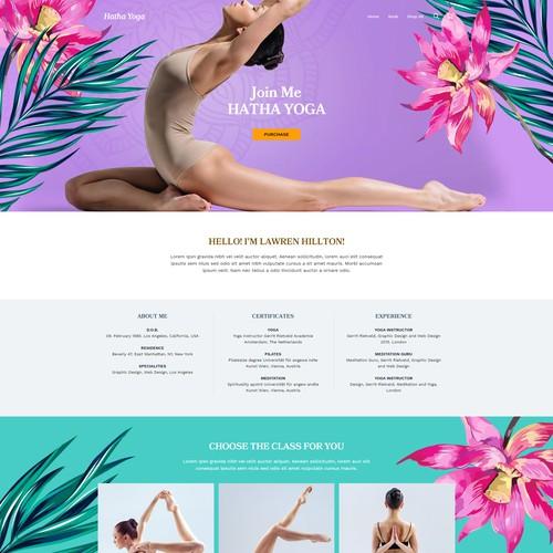Yoga Personal Studio Concept.
