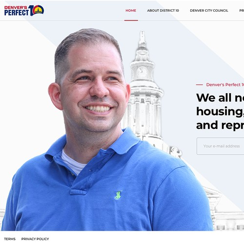 Clean Website For Elected Politician