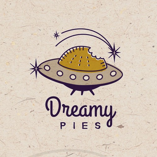 Funky retro logo for a pie company