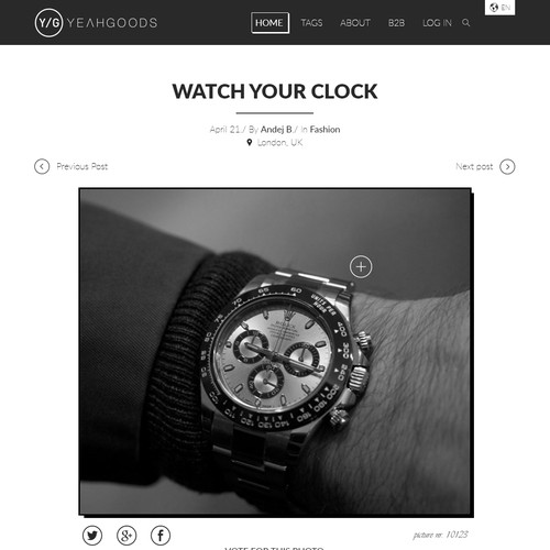 YEAHGOODS - Blog page design