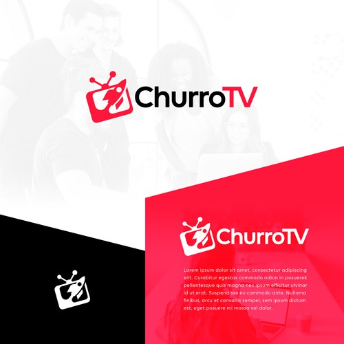 Modern Logo for a Web-Based Video Channel