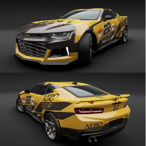 Car wrap design for Cevrolet Camaro