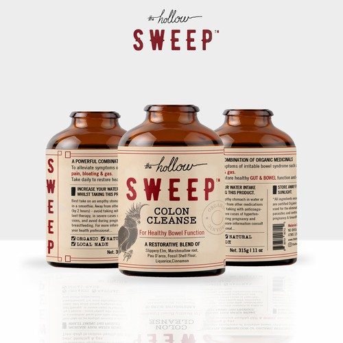 Hollow SWEEP colon cleanse