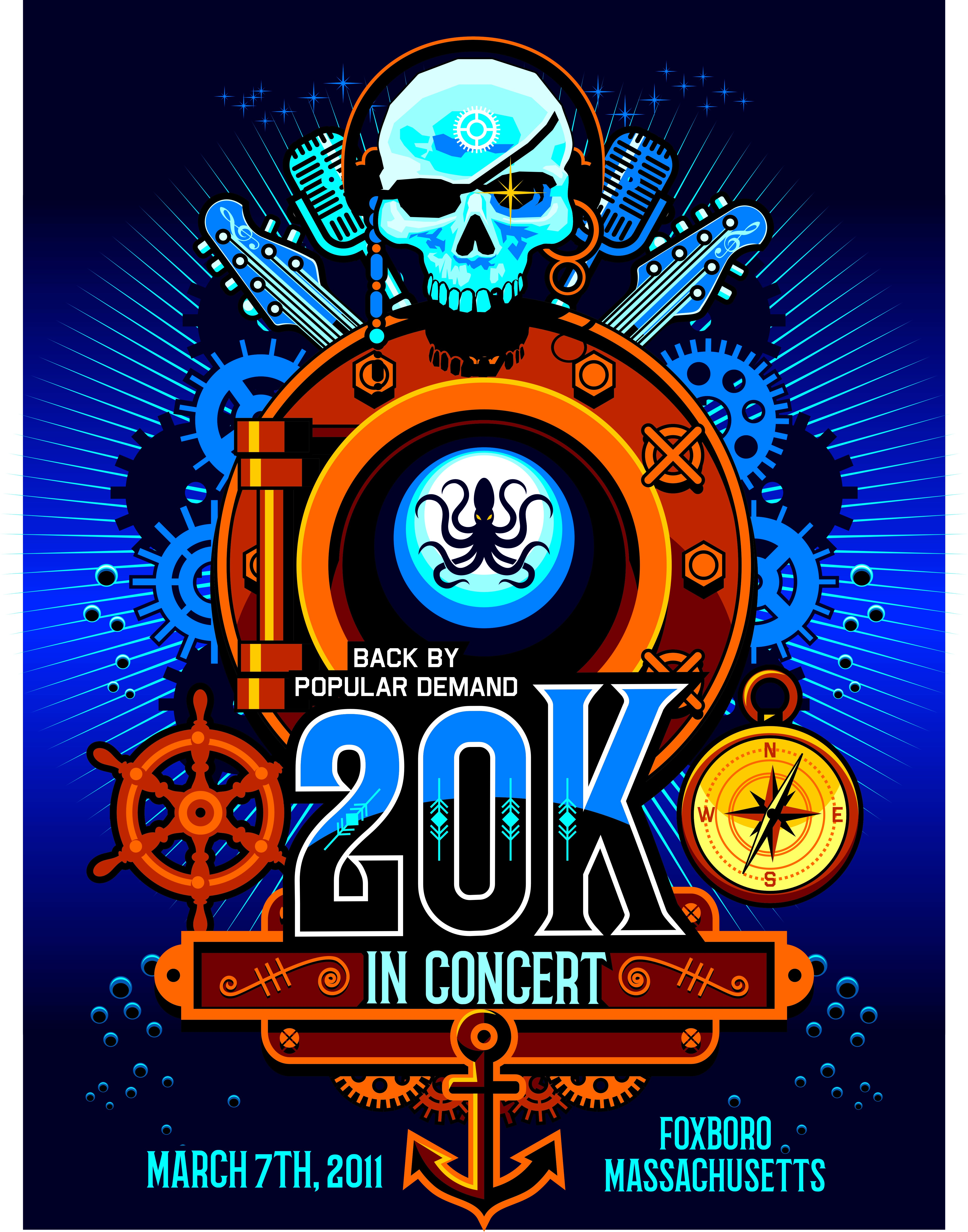 Steampunk Concert Poster, based on 20,000 Leagues Under The Sea!