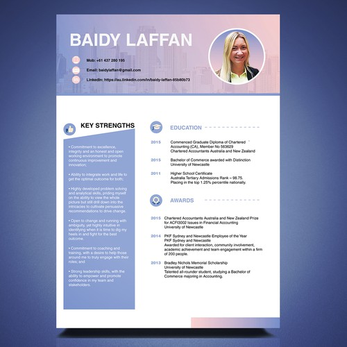 Different than normal resume design