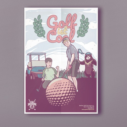 Poster Concept for Kids Golf Course