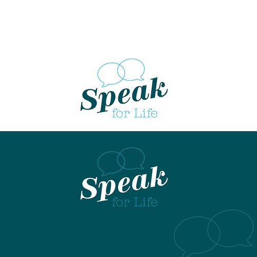 Bold logo for speech therapy company