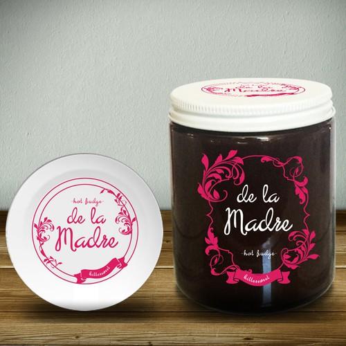 print label for Hot Fudge jar packaging