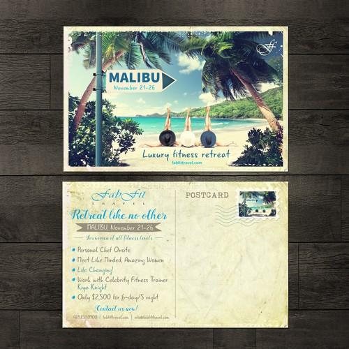 FabFitTravel Postcard design