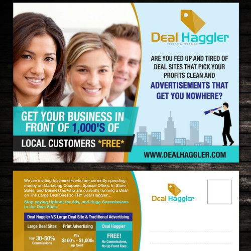 Create DIRECT MAIL Piece for Deal Haggler