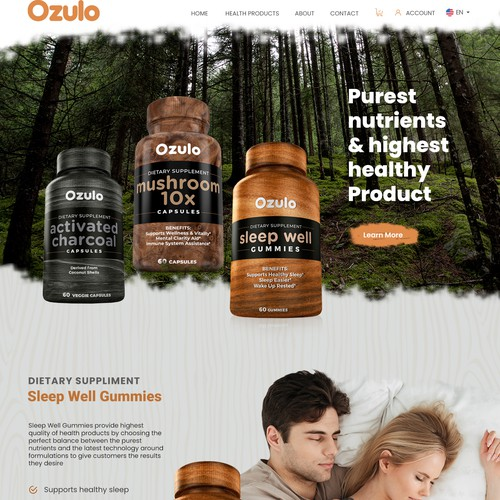 Ozulo Product Landing page