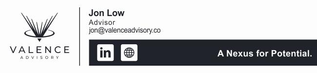 Valence Advisory Email Signatures