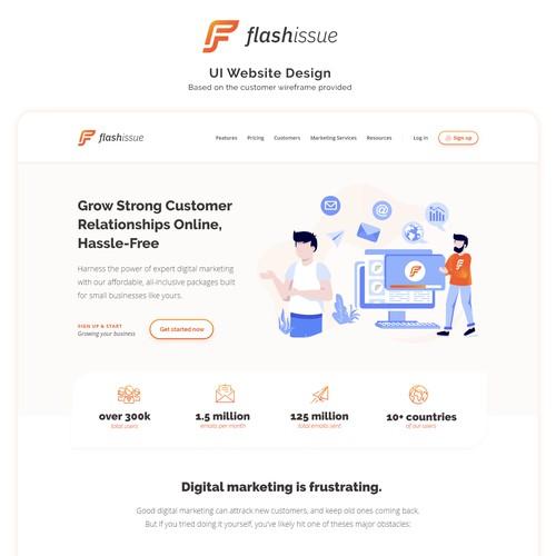Flashissue UI (Design based on client wireframe)