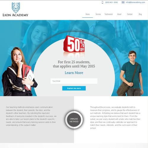 Website for Lion Academy Tutors
