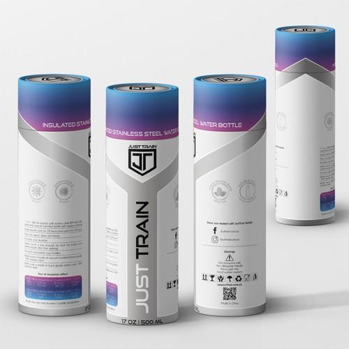 Water bottle box design
