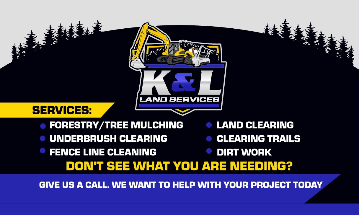 Logo for a new land services company