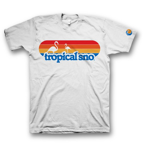 t shirt design for tropical sno