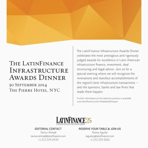 Create a LatinFinance Gala Dinner Ad