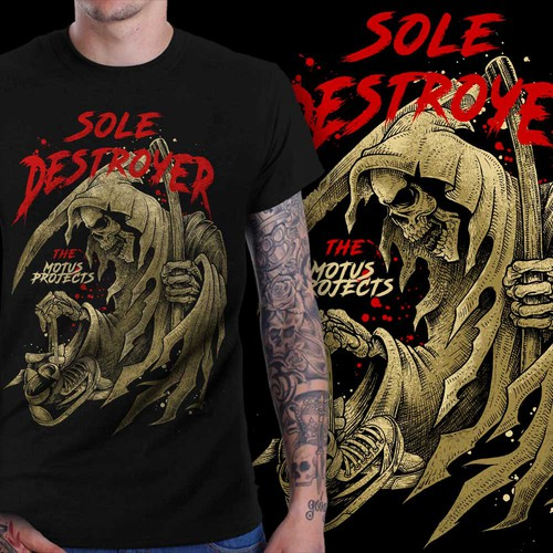 Sole Destroy Hand Drawn