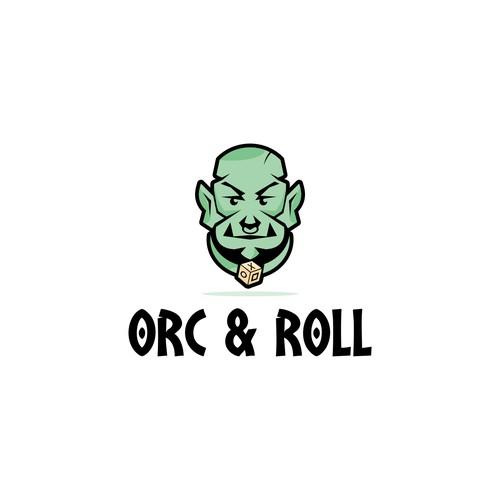 Design a logo for Orc N' Roll a RPG Game Platform