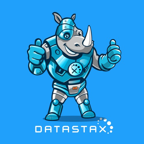 Cyborg Rhino Mascot