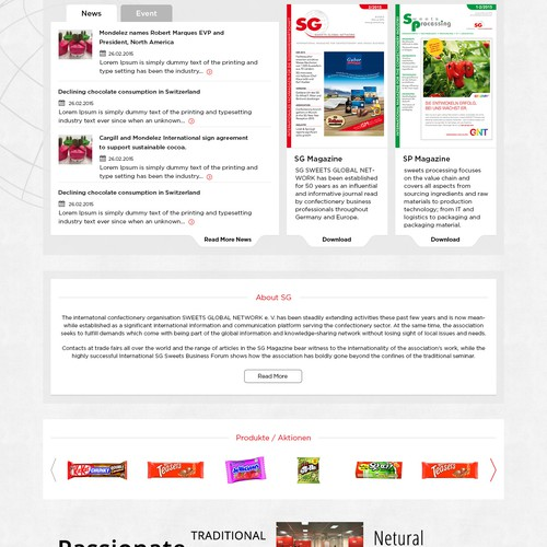 Sweets Global Network - website relaunch