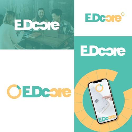 Website logo design ( EDCORE )