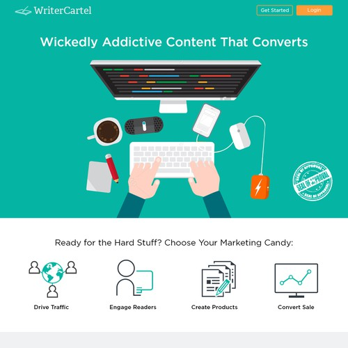 Content Writing Flat Design