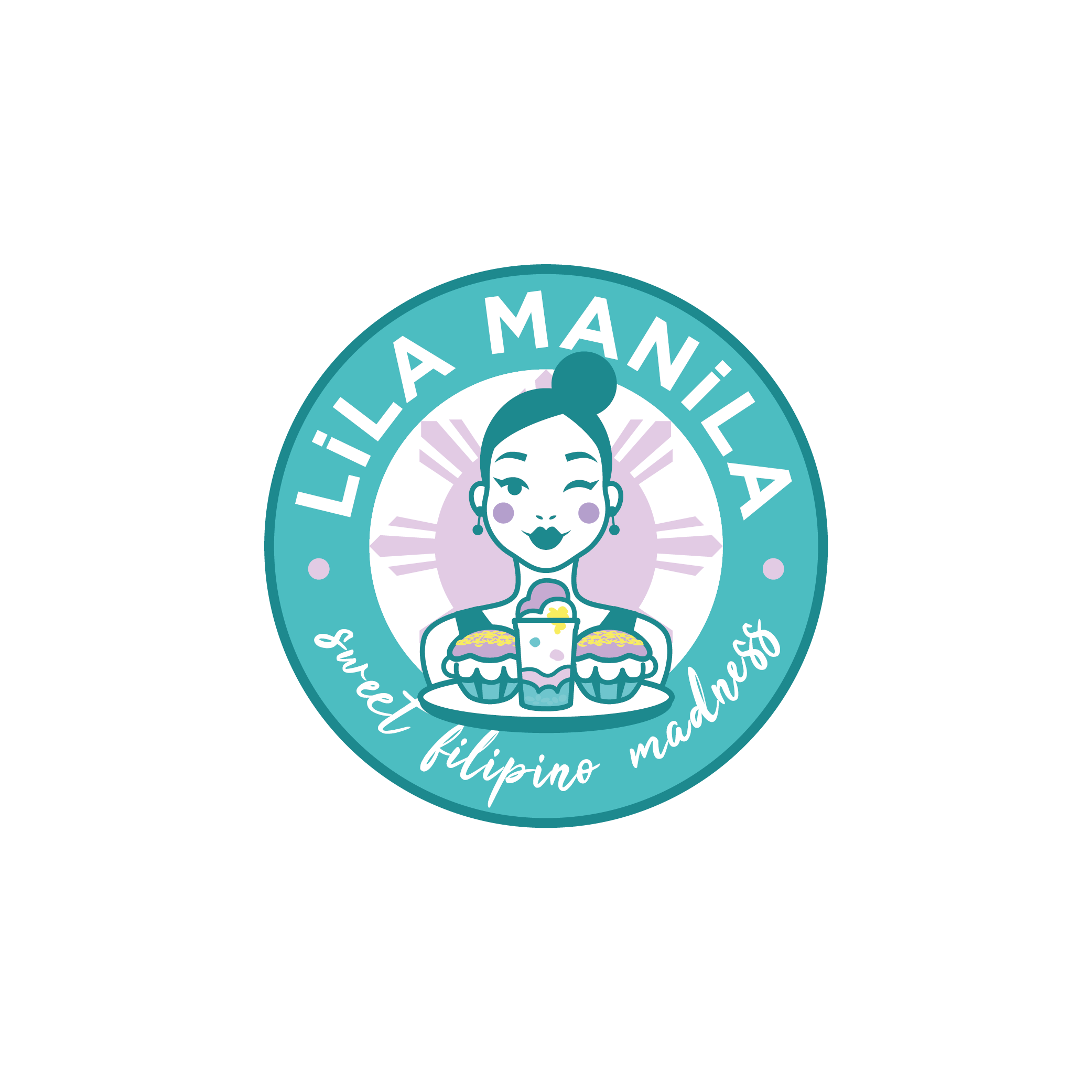 Logo for LiLA MANiLA. Sweet filipino madness. Urban. Simple. But YEAH!