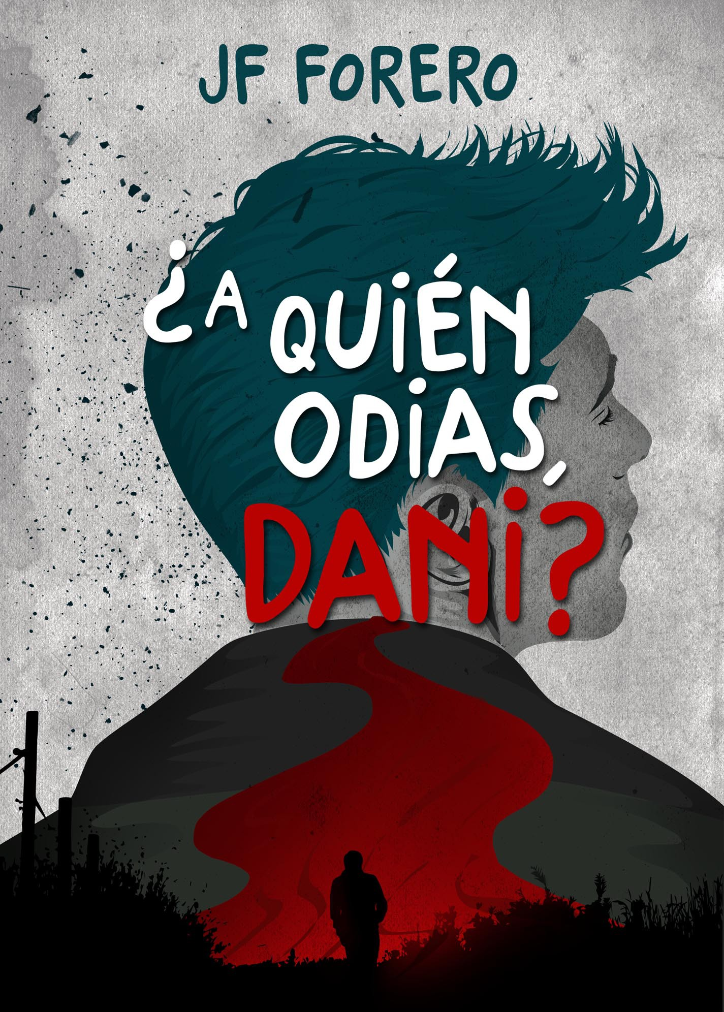 "Create an ebook cover for my upcoming novel ""Who do you hate, Dani?"""