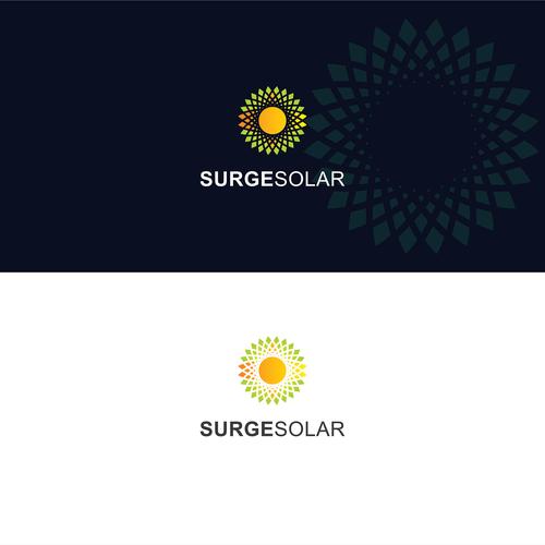 Design a creative logo for Surge Solar