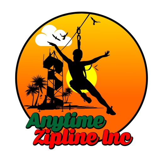New zipline business I want tiki hut tropical look warm it up!