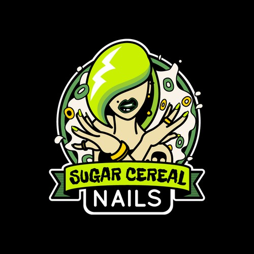 Sugar Cereal Nails Logo