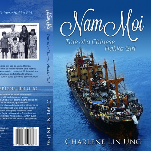 Create a dramatic book cover for my escape as a refugee from communist Vietnam.